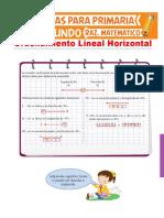 Ordenamiento Lineal Horizontal Para Segundo de Primaria