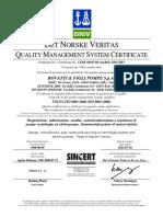 CERT ISO 9001 Pompa