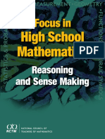Focus in High School Mathematics Reasoning and Sense Making(NCTM Publication)
