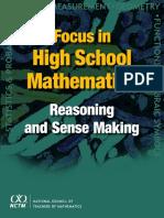 Focus in High School Mathematics Reasoning and Sense Making(NCTM Publication)