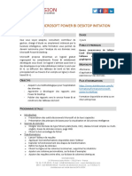 Formation PowerBI Desktop 2 Jours Initiation
