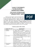 Port Management Programme 2008 Prospectus