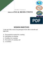 Meetings & Resolutions