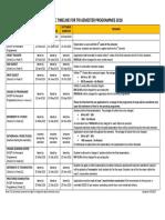 Tri-semester Programmes Timeline - Year 2018 4.9.2017 Webupdate 19-9-17