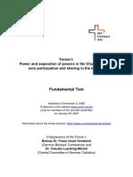 Synodal Way Forum 1 Fundamental Text