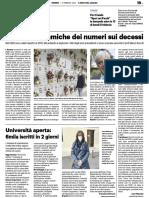 Le strane dinamiche dei numeri sui decessi - Il Resto del Carlino del 5 febbraio 2021