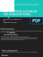THE CHANGING NATURE OF THE WORLD OF WORK