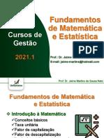 Fundamentos de Matemática - Aula 01