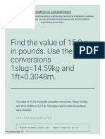 Find the Value of 15 0 n in Pounds Use the Conversions 1slug14 59kg and 1ft0 3048m