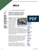 Razzismo in UK, La Repubblica 2001