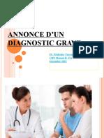 Annonce  diagnostic grave 2017473092079