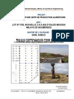 Travaux Geotechniques Unité Alimentaire O-Moussa