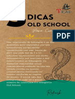 5 dicas Convenções Old School