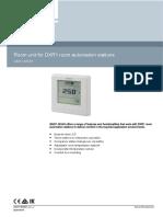 A6V11885107_Room unit for DXR1 room automation stations_BR__QM_en