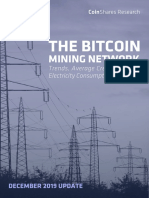 Bitcoin Mining Network Report