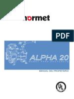 Alpha 20 Manual Uso y Partes ES v14(Color)