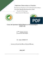 Cours Systemes Hydrauliques Et Pneumatiques