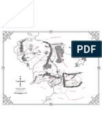 Middle Earth map vector based