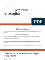 Recompensarea Salariaților Tema 7