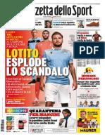 La Gazzetta dello Sport Roma 7 Novembre 2020 ?? @International Press