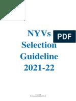 Ny v Selection Guideline 202122