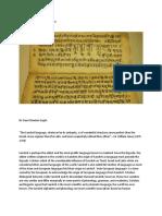 Sanskrit Letters and Chakras
