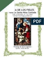 Domingo de Quincuagésima. Guía de los fieles para la santa misa cantada.  Kyrial Orbis Factor