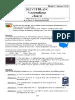 Brevet Blanc-2 Maths