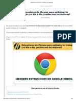 Extensiones de Chrome, ¿cuáles son las mejores_