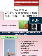 Aqueous Reactions & Solutions Stoichiometry
