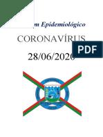 Boletim dia 28.06.2020 - COVID