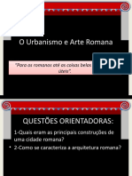 O Urbanismo e Arte Romana