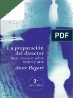 (Artes Escénicas) Anne Bogart - La Preparación Del Director_ Siete Ensayos Sobre Teatro y Arte-Alba (2013)