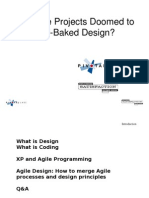 Are Agile Projects doomed to halfbaked design