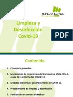 Presentación Limpieza y desinfección frente al COVID-19