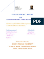 RESEARCH PROJECT REPORT