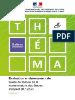 Théma - Évaluation environnementale - Guide de lecture de la nomenclature des études d'impact