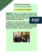 EL LENGUAJE FORENSE (1)