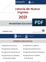 Instituto Tecnológico de Toluca convocatoria nuevo ingreso 2021