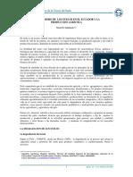 deterioro de los suelos en el Ecuador y la producción agrícola