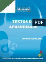 Texto de Aprendizaje 1ro Secundaria-MagisteriodeboliviaALEX