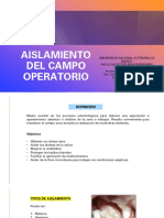 Aislamiento Del Campo Operatorio. Abigail Aguirre.