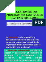 Gestión Procesos Sustant.  Universitarios