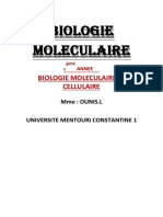 CHAPITRE 2 BIOLOGIE MOLECULAIRE Mme OUNIS