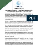 Avipla - Comunicado Situación Del Sector Plástico