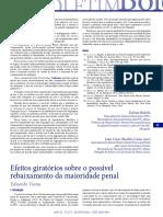 2015, Viana, Efeitos giratórios idade penal