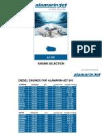 Diesel engines for Alamarin-Jet 245 rev.3.3