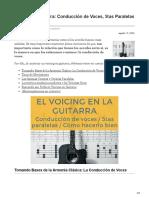 Voicing en Guitarra Conducción de Voces 5tas Paralelas y más (1)
