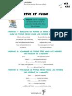 Fiche Conjugaison CE1-CE2 - Etre Et Avoir