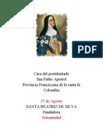 Esquema Santa Beatriz de Silva